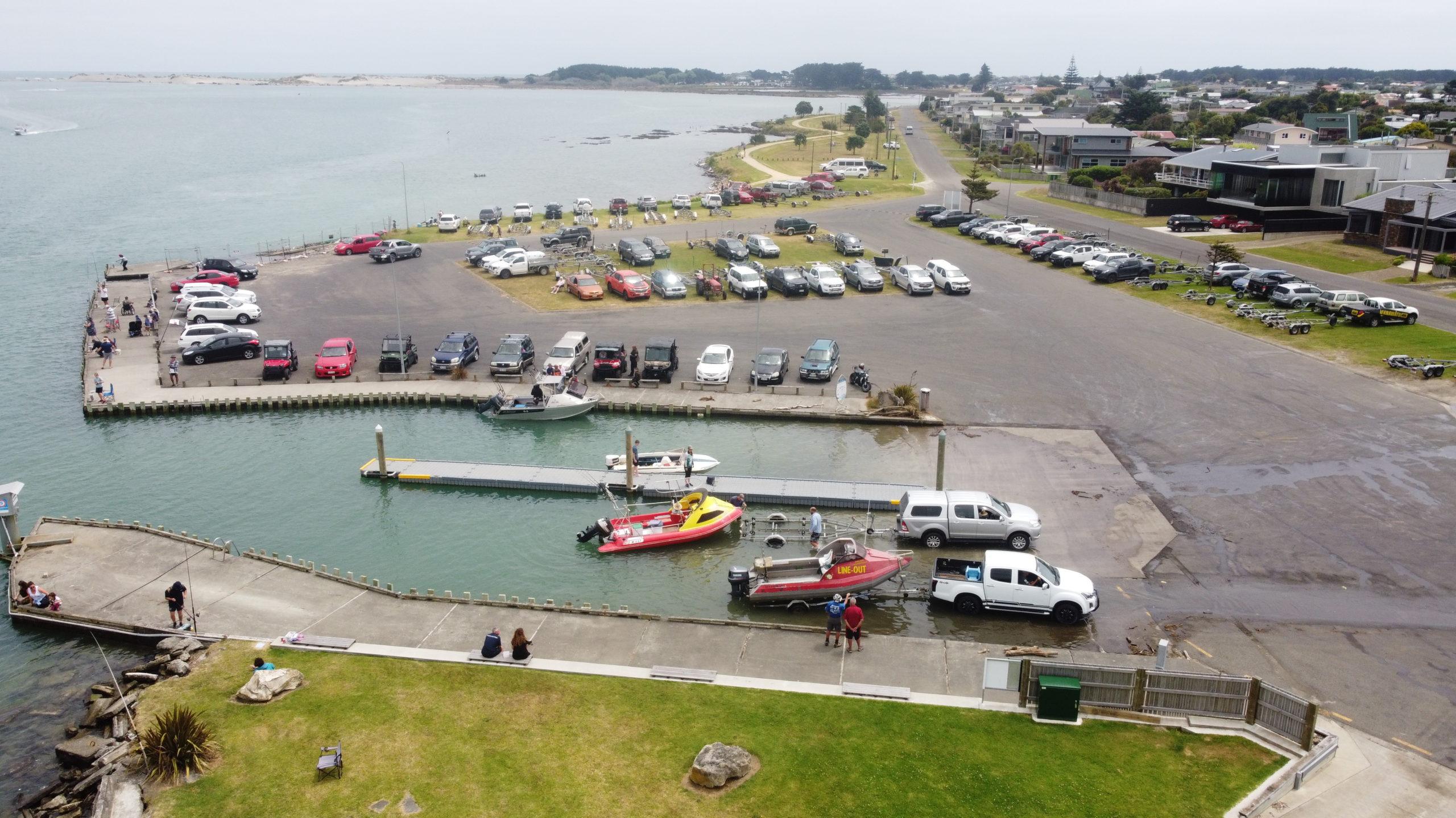 Aerial Manawatu Marine Boating Club