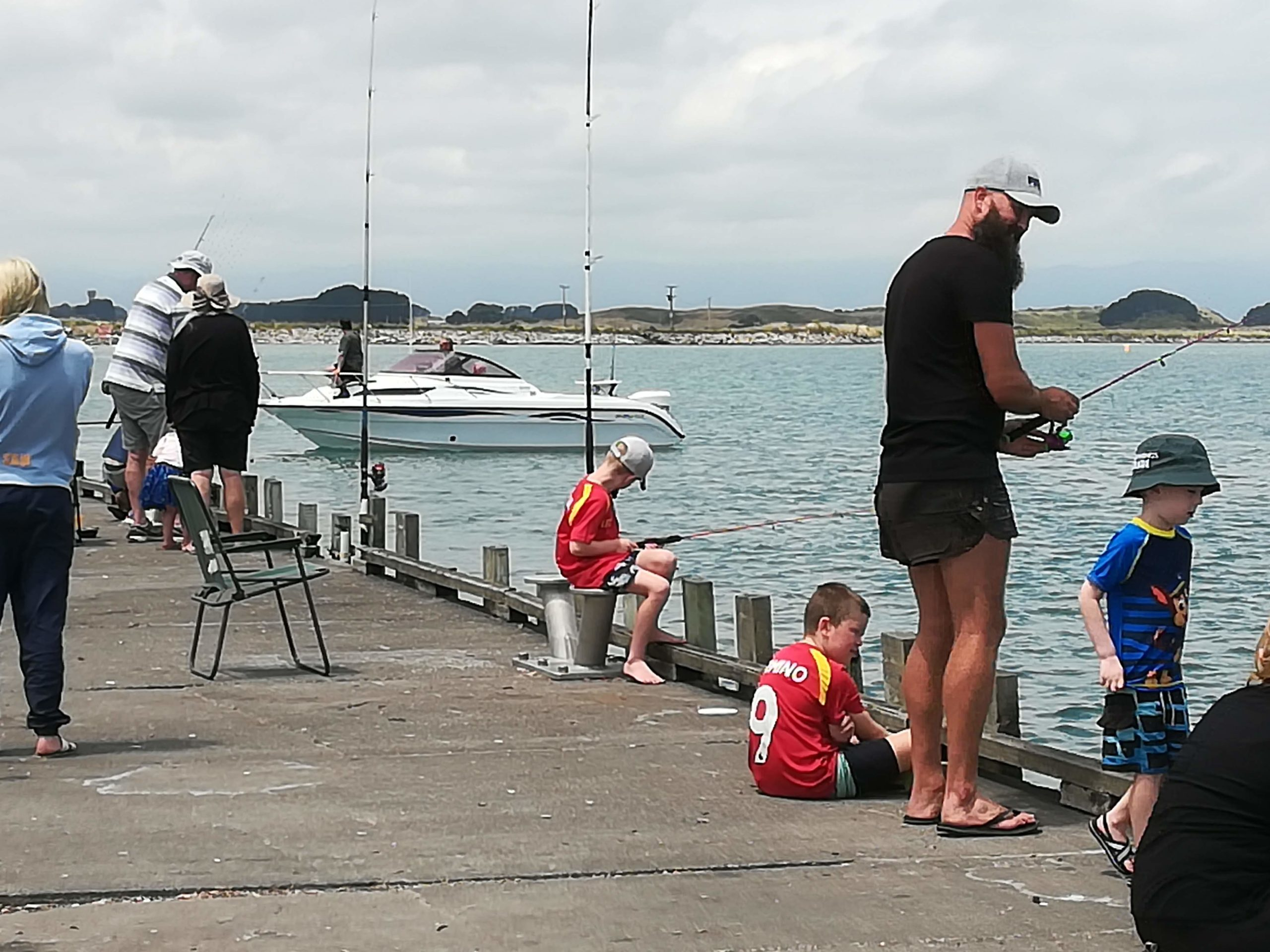 Fishing from the wharf MMBC